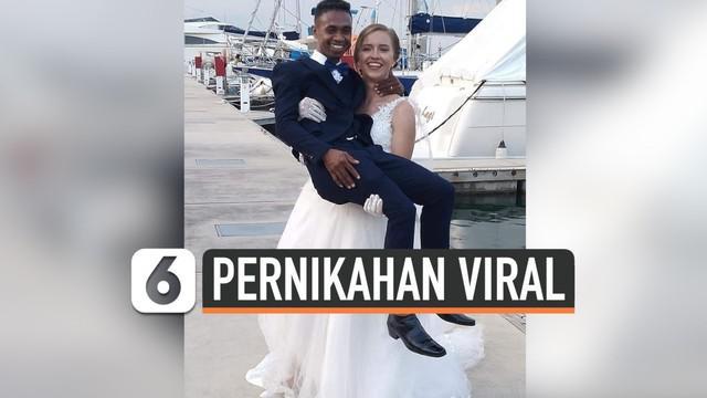 Mendadak viral di media sosial, pernikahan seorang pria asal NTT dengan bule cantik asal Prancis. Pernikahan mereka menuai komentar warganet dan keluarga keduanya.