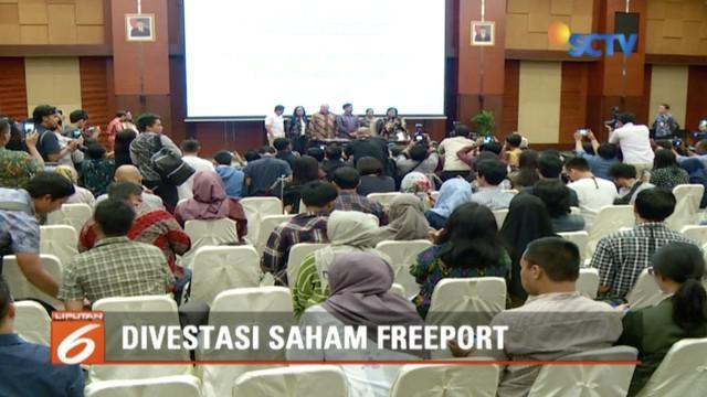 Kini Indonesia memiliki saham mayoritas PT Freeport sebesar 51 persen.