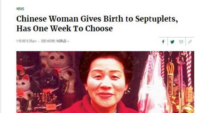 Cek Fakta - Kabar 12 Bayi Kembar Dibunuh di China, Hoaks atau Fakta?