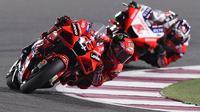 Aksi Francesco Bagnaia di MotoGP Qatar (Karim Jaafar/AFP)