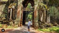 Angkor Wat di Kamboja tampak sepi pengunjung sejak pandemi corona Covid-19 (dok.instagram/@angkorwattrip/https://www.instagram.com/p/CJzgEkQHx5f/Komarudin)