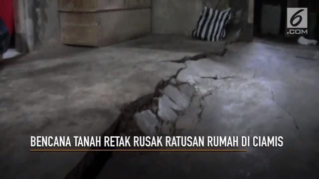 Pergeseran tanah merusak 4 kecamatan di Kabupaten Ciamis.