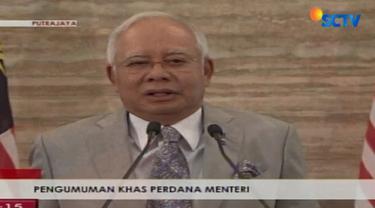 Perdana Menteri Najib menegaskan dirinya telah bertemu dengan Raja Malaysia untuk mendapatkan persetujuan pembubaran Parlemen Malaysia.