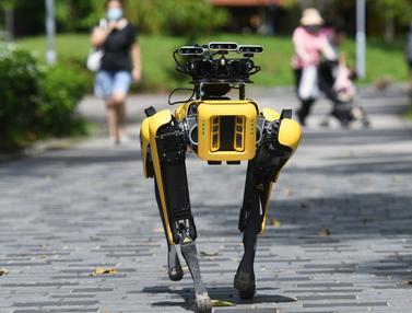 FOTO: Kenalkan, SPOT Si Robot Anjing Pendeteksi Masker