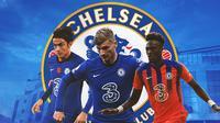 Chelsea - Paulo Dybala, Timo Werner, Tammy Abraham (Bola.com/Adreanus Titus)