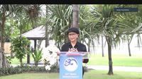Menlu Retno Marsudi ketika memberikan press briefing kepada awak media secara virtual dalam acara Bali Democracy Forum (BDF) ke-13 pada Kamis (10/12/2020) di Hotel Sofitel, Nusa Dua, Bali.