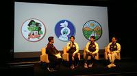 Peluncuran jaket VRCT Adidas dengan menampilkan tiga patch yang Indonesia banget. (Liputan6.com/Dinny Mutiah)