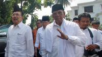 Hasyim Muzadi menilai Jokowi dan JK adalah dua sosok tokoh yang suka kedamaian, Depok, Jumat (23/5/2014) (Liputan6.com/Andrian M Tunay)