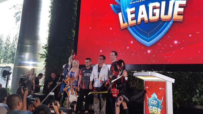 Pengumuman kompetisi eSports Indonesia Games Competition (IGC) 2019 yang diselenggarakan platform gim Dunia Games milik Telkomsel. Liputan6.com/ Agustin Setyo W