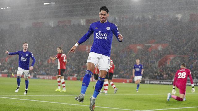 Selebrasi Pemain Leicester City Ayoze Perez
