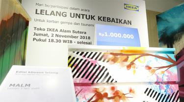Bantu Korban Bencana di Sulse IKEA Lelang Belasan Barang