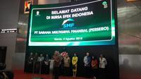 PT Sarana Multigriya Finansial (Persero) atau SMF bekerjasama dengan PT BNI Sekuritas menghadirkan layanan transaksi produk Efek Beragun Aset berbentuk Surat Partisipasi (EBA-SP) Ritel pertama. Foto: Liputan6.com/Bawono Yadika