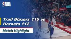 Berita Video Highlights NBA 2019-2020, Portland Trail Blazers Vs Charlotte Hornets 115-112