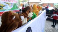 Dongeng boneka lima sekawan beraksi menyelamatkan air sungai dipentaskan oleh bocah-bocah Banyumas. (Foto: Liputan6.com/Muhamad Ridlo)