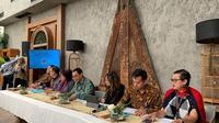 Media Gathering Dirjen Kerjasama Multilateral diadakan oleh Kementerian Luar Negeri di Jakarta, 16 Desember 2019. (Source: Liputan6.com/Benedikta Miranti T.V)