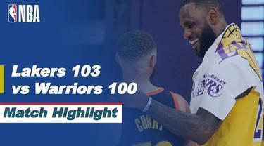 Berita video highlights laga Play-in NBA 2020/2021, di mana LeBron James mengantarkan LA Lakers melaju ke babak playoffs setelah mengalahkan Golden State Warriors 103-100, Kamis (20/5/2021) pagi hari WIB.