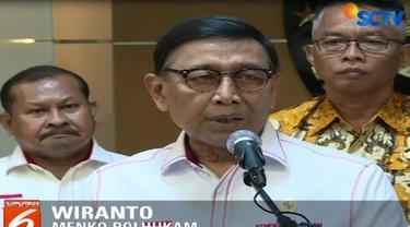 Menkopolhukam Wiranto menegaskan pemerintah akan membuat kajian terkait sejumlah aspek, seperti hukum dan ideologi.