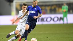 Lazio yang tau akan bakat nya langsung menebus Luis Alberto dengan mahar sepadan. Kini Luis menjadi salah satu pemain bintang Lazio yang tak tergantikan.(AFP/Sergei Supinsky)