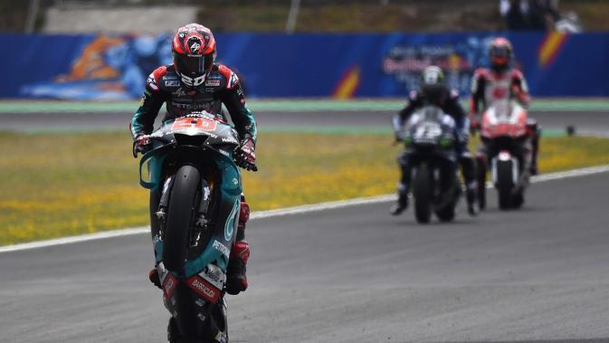 Pembalap Petronas Yamaha, Fabio Quartararo. (AFP/Gabriel Bouys)