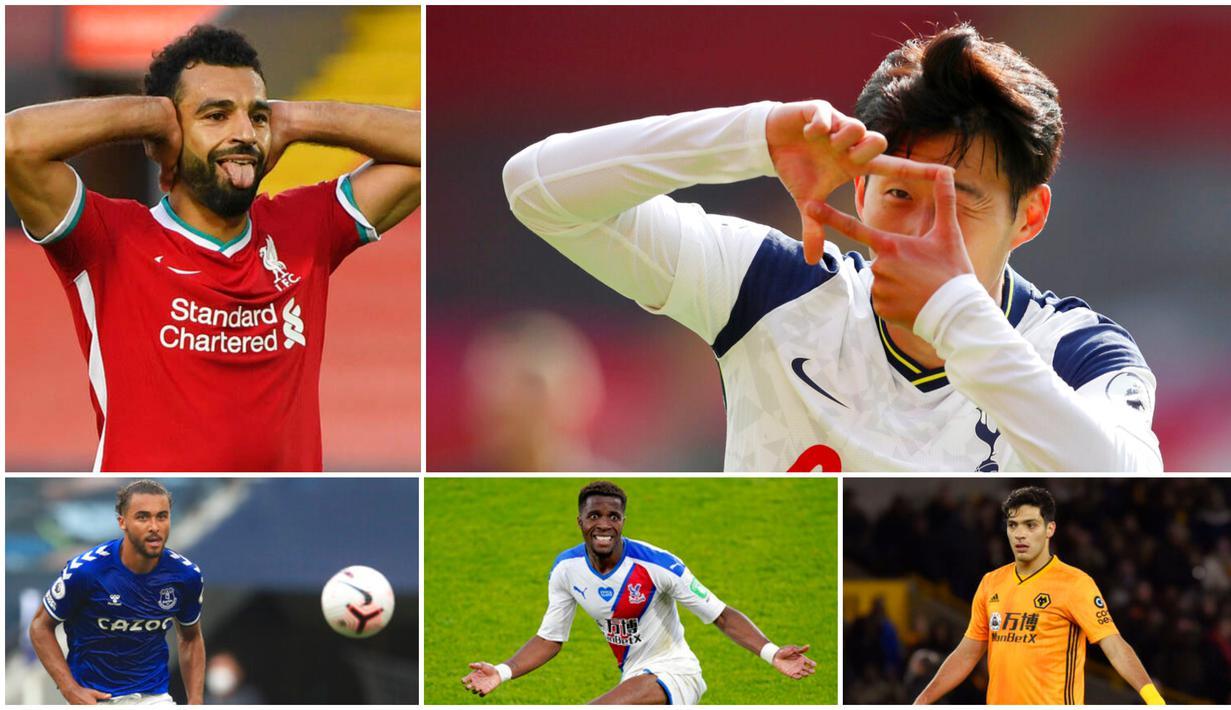 Torehan empat gol Son Heung-Min ke gawang Southampton membuatnya langsung bertengger di puncak daftar pencetak gol terbanyak sementara Premier League. Berikut daftar top skor sementara Liga Inggris musim 2020/2021.