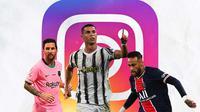 Ilustrasi - IG Lionel Messi, Cristiano Ronaldo, Neymar (Bola.com/Adreanus Titus)