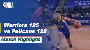 Berita video highlights laga musim reguler NBA 2020/2021 antara Golden State Warriors melawan New Orleans Pelicans yang berakhir dengan skor 125-122, Sabtu (15/5/2021) pagi hari WIB.
