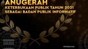 Selamat, Kemlu Kembali Raih Klasifikasi Badan Publik Informatif Pada Anugerah Keterbukaan Informasi Publik
