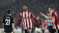 Mousset mencetak gol kedua untuk Sheffield United saat menghadapi MU (AP)