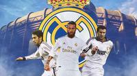 Real Madrid - Raul Gonzalez, Sergio Ramos, Luis Figo (Bola.com/Adreanus Titus)