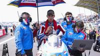 Pembalap Pertamina Mandalika SAG Team Bo Bendsneyder jelang balapan Moto2 Belanda, 27 Juni 2021. (Dokumentasi Pertamina Mandalika SAG Team)