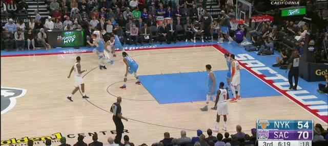 Berita video game recap NBA 2017-2018 antara Sacramento Kings melawan New York Knicks dengan skor 102-99.