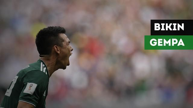 Gol yang dicetak Hirving Lozano dikabarkan membuat Meksiko mengalami gempa.