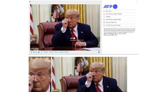 Cek Fakta Donald Trump menangis 2