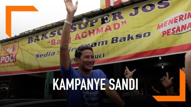 Kampanye di Tegal Sandi berlari sejauh 5 kilometer. Sandi berjanji mengembangkan wisata di Kota Tegal