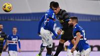 Inter Milan menelan kekalahan 1-2 dari Sampdoria pada laga pekan ke-16 Serie A di Stadio Comunale Luigi Ferraris, Rabu (6/1/2021) malam WIB. (AFP/Marco Bertorello)