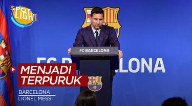 Berita video spotlight kalo ini membahas tentang empat klub yang terpuruk setelah ditinggal pemain bintangnya, ada Barcelona yang ditinggal Lionel Messi.