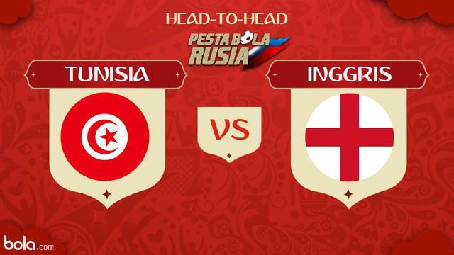 Berikut perbandingan kekuatan tim Piala Dunia 2018 antara Tunisia dan Inggris.