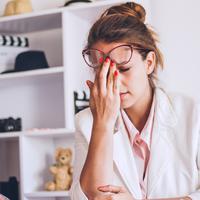 Ilustrasi stres (iStockphoto/hobo_018)