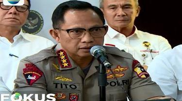 Kapolri bahkan memperlihatkan sepucuk senjata api laras panjang yang disita dari enam orang di tanggal 19 Mei 2019.