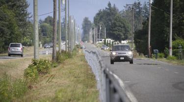 FOTO: Pagar Kabel Pembatas Kanada dan Amerika Serikat