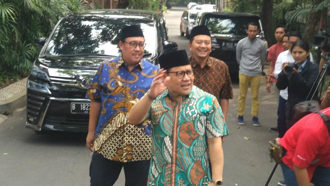 Ketua Umum PKB Muhaimin Iskandar yang kerap disapa Cak Imin menyambangi kediaman Ma'ruf Amin, Jumat (5/7/2019). (/ Putu Merta Surya Putra)