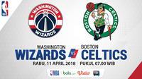 NBA 2018 Washington Wizards Vs Boston Celtics (Bola.com/Adreanus Titus)