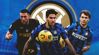 Inter Milan - Milan Skriniar, Alessandro Bastoni, Nicolo Barella (Bola.com/Adreanus Titus)