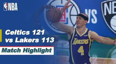 Berita video highlights NBA pertandingan Boston Celtics melawan LA Lakers, Jumat (16/4/2021).