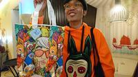 Muklay, seniman muda Indonesia. (Liputan6.com/Dinny Mutiah)