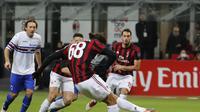 Ricardo Rodriguez menjadi pemain AC Milan yang bersinar sejak ditangani Gennaro Gattuso. (AP Photo/Antonio Calanni)