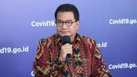 Ketua Tim Pakar Satuan Tugas Penanganan COVID-19 Wiku Adisasmito menjelaskan Perpres Nomor 82 Tahun 2020 untuk penanganan COVID-19 yang lebih cepat saat dialog di Graha BNPB, Jakarta, Jumat (24/7/2020). (Tim Komunikasi Publik Satgas Penanganan COVID-19)