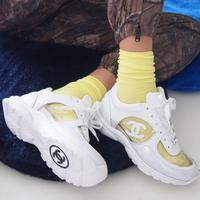 Chanel plastic pvc sneakers