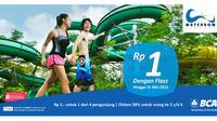 Anda bisa mendapatkan promo menarik berwisata ke Waterbom Jakarta cuma Rp 1 ini hingga 31 Mei 2015.