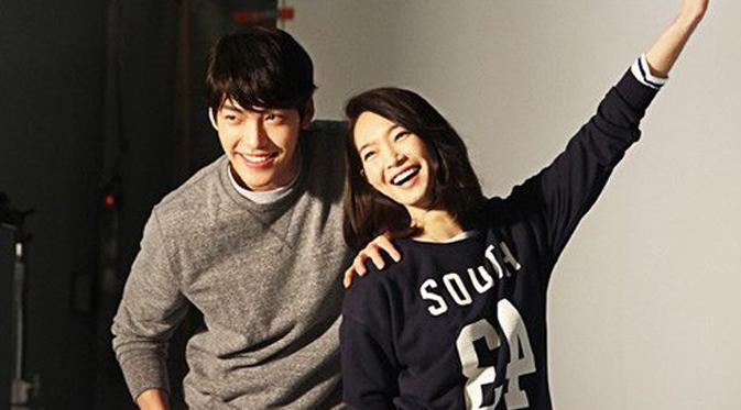 Kim Woo Bin dan Shin Min Ah. (via dispatch)